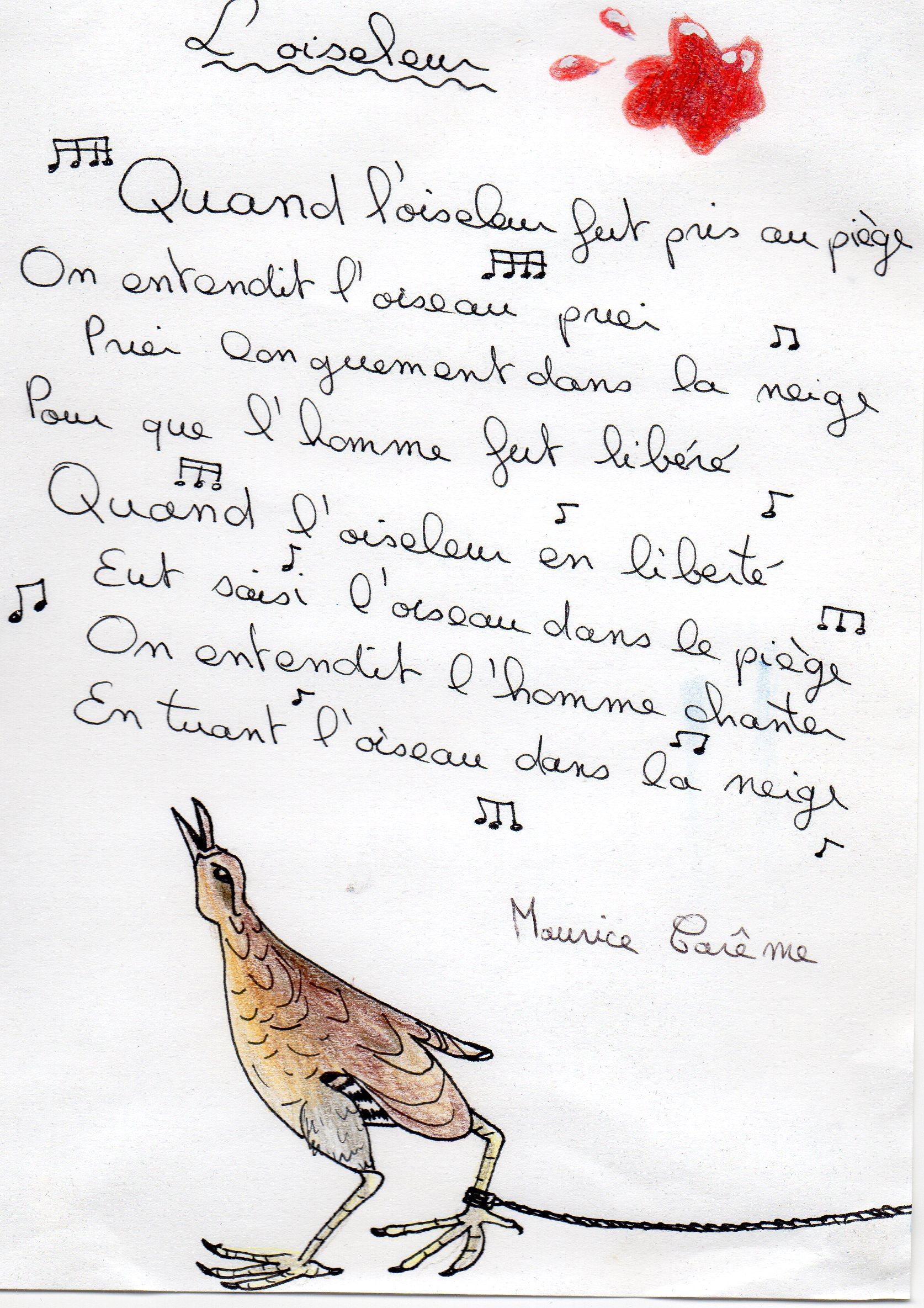 Loiseleur Maurice Carême Le Journal De Papageno